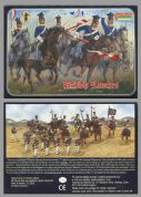 Strelets 1.72 scale 0036 Crimean British Lancers (x 12 mtd figs)